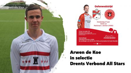 Arwen De Koe Speelt Tegen FC Emmen