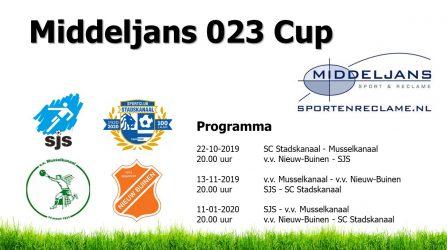 SJS O23 Strijdt Om Middeljans Cup