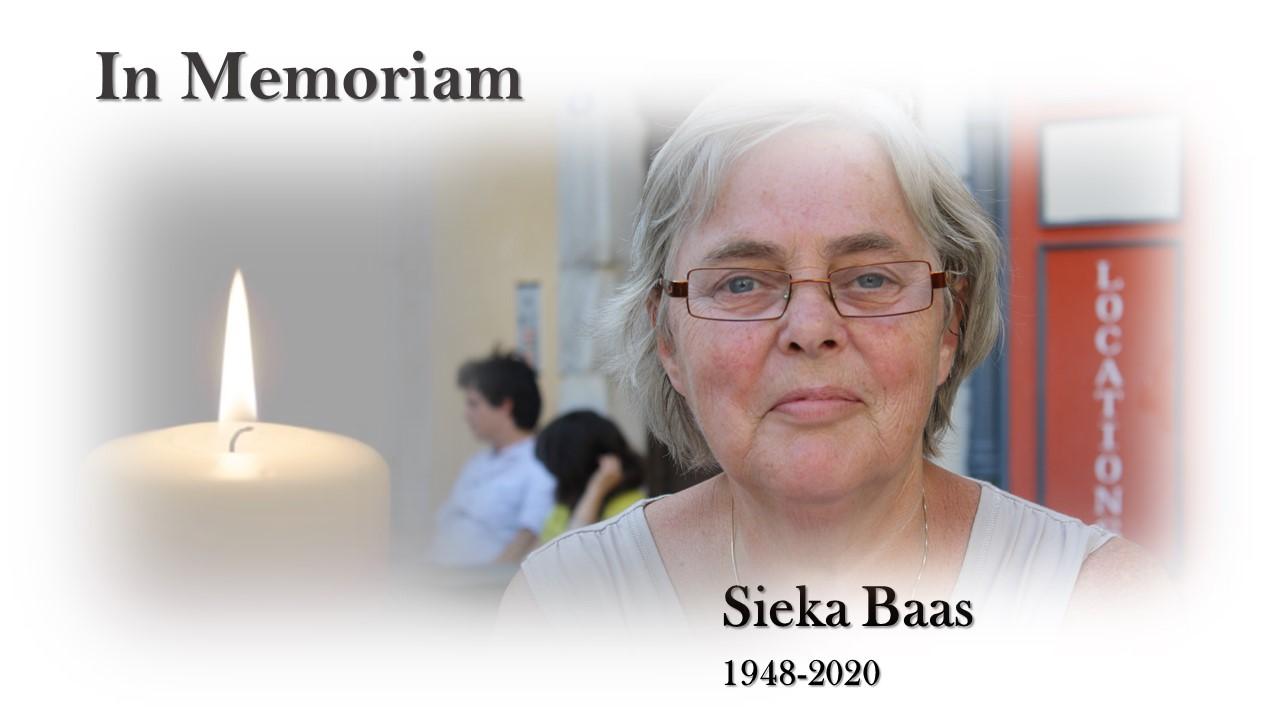 In Memoriam Sieka Baas