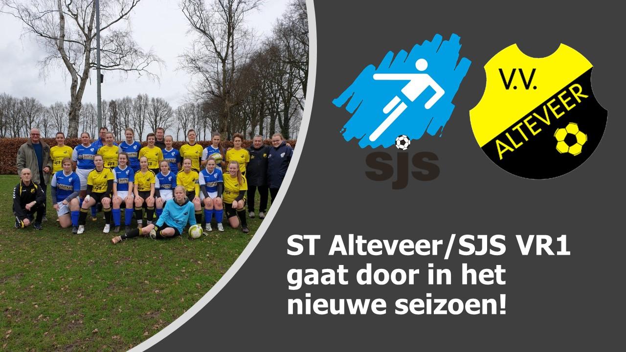 ST Alteveer/SJS VR1 ook door in het nieuwe seizoen