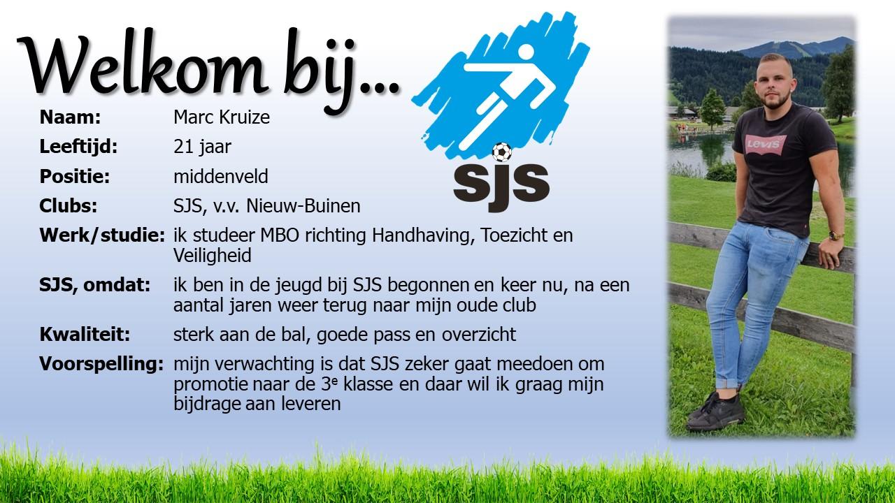Welkom bij SJS: Marc Kruize