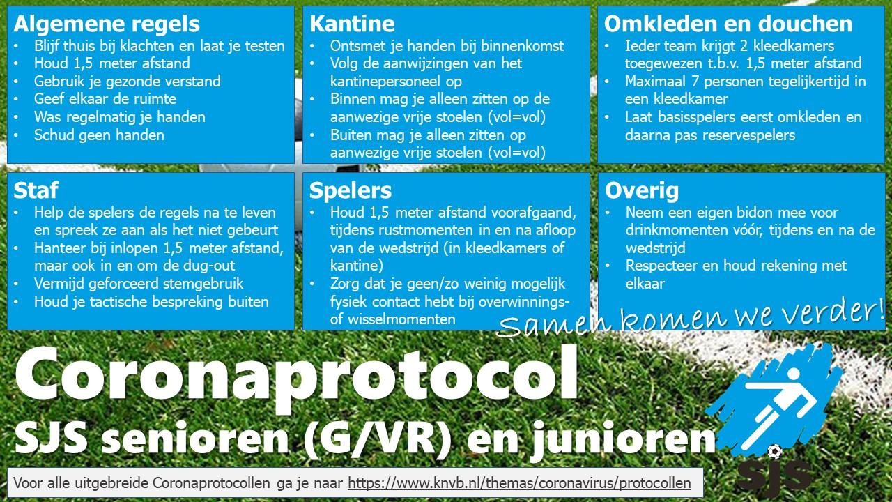 Coronaprotocol SJS Senioren  En Juniorenteams