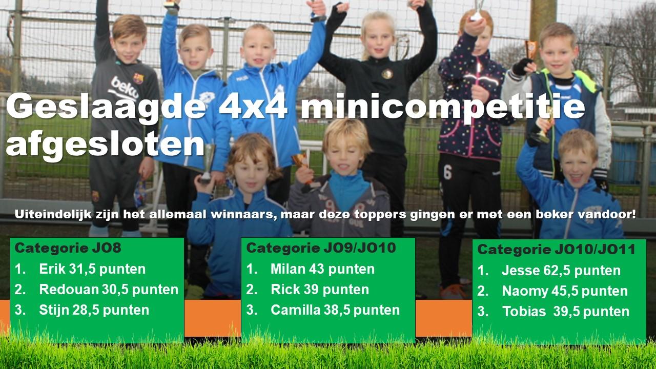 4×4 Minicompetitie Afgesloten
