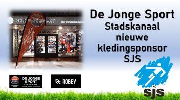 De Jonge Sport Stadskanaal Nieuwe Kledingsponsor