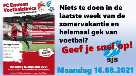 FC Emmen Voetbalclinic Bij SJS