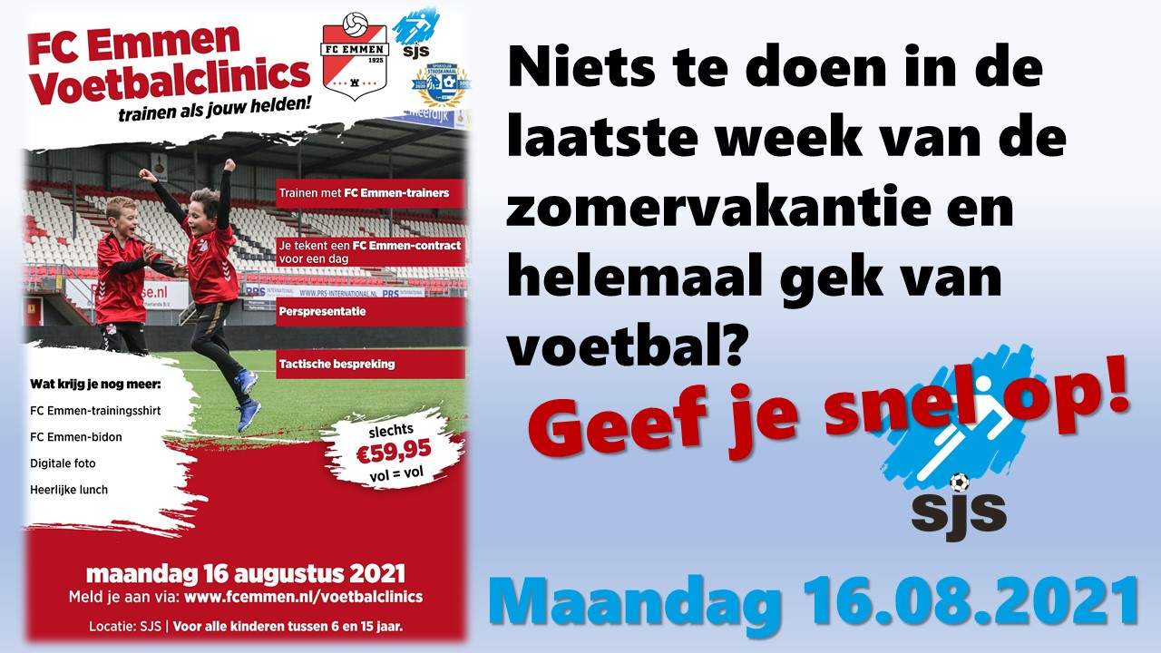 FC Emmen Voetbalclinics