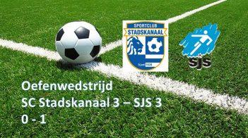 SJS 3 Verslaat SC Stadskanaal 3
